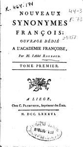 Nouveaux synonymes françois ...: Volume4