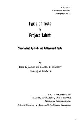 Types of Tests in Project Talent PDF