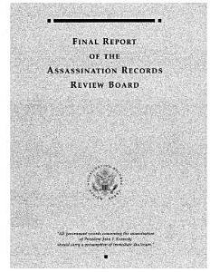 Final Report of the Kennedy Assassination Records Review Board PDF