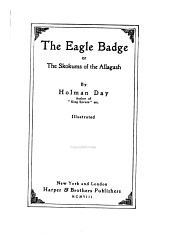 The eagle badge: or The Skokums of the Allagash