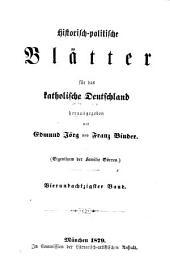 Historisch-politische Blätter für das katholische Deutschland: Band 84