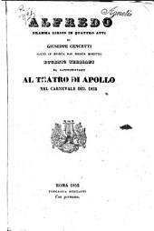 Alfredo: dramma lirico in quattro atti : da rappresentarsi al Teatro di Apollo nel carnevale del 1852