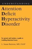 Understanding Attention Deficit Hyperactivity Disorder PDF