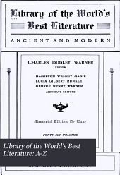Library of the World's Best Literature, Ancient and Modern: Volume 27