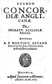 Examen Concordiae Anglicanae, De Primatu Ecclesiae Regio