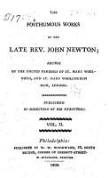 The Posthumous Works of the Late Rev  John Newton     PDF