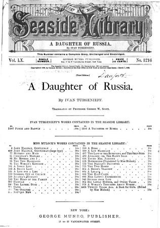 A Daughter of Russia PDF