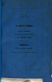 La Divina Comedia di Dante Allighieri difesa dalle censure appostevi da Torquato Tasso: Memoria del Dr. Filippo Scolari. (Estratta dai N. 5 e 6 1855 della Rivista Ginnasiale.)