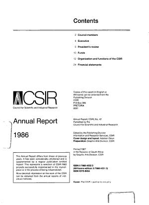 CSIR Annual Report