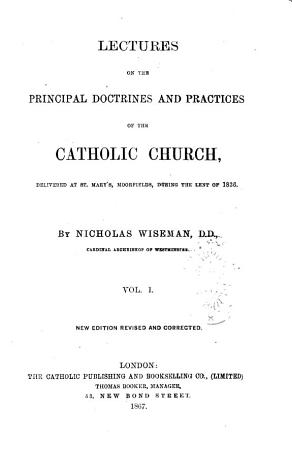 Lectures on the Principal Doctrines and Practices of the Catholic Church PDF