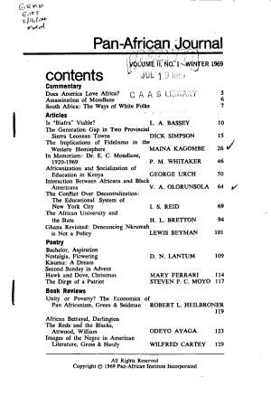 Pan African Journal PDF
