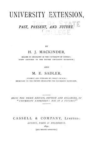 University Extension  Past  Present  and Future PDF