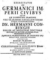 Exercitatio De Germanici Imperii Civibus