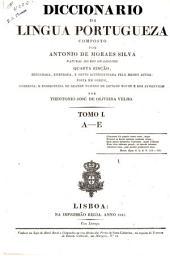 Diccionario da lingua portugueza: composto, Volume 1
