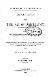 Fur Seal Arbitration: Volume 12