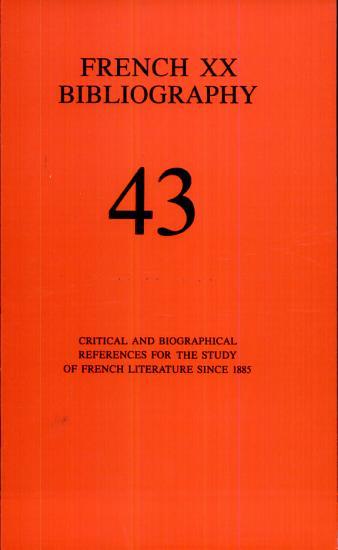 French Twentieth Bibliography PDF