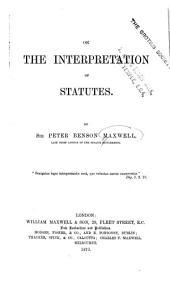 On the Interpretation of Statutes