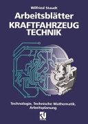 Arbeitsbl  tter Kraftfahrzeug Technik PDF