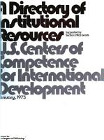 A Directory of Institutional Resources Supported by Section 211 D Grants PDF