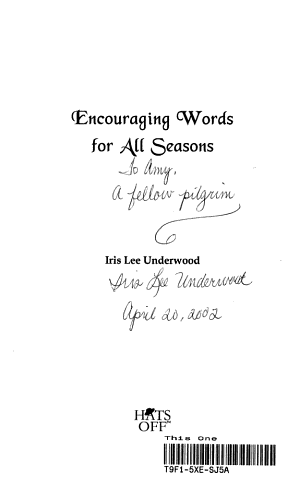 Encouraging Words for All Seasons PDF