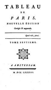 Tableau de Paris: Volumes7à8