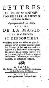Lettres au sujet de la magie, des malefices et des sorciers (etc.)