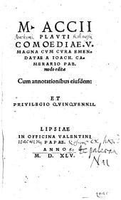 M. Accii Plavti Comoediae. V.