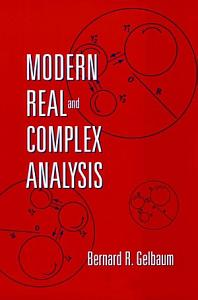 Modern Real and Complex Analysis Book