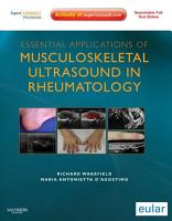 Essential Applications of Musculoskeletal Ultrasound in Rheumatology E Book PDF