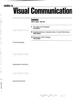 Studies in Visual Communication PDF
