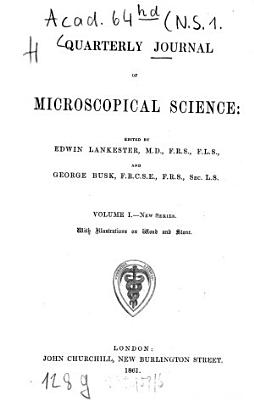 Quarterly journal of microscopical science PDF