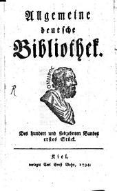Allgemeine deutsche Bibliothek: Band 117