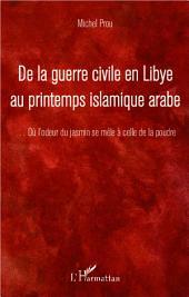De la guerre civile en Libye au printemps islamique arabe: ...Où l'odeur du jasmin se mêle à celle de la poudre