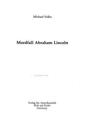 Mordfall Abraham Lincoln PDF