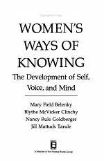 Women's Ways of Knowing