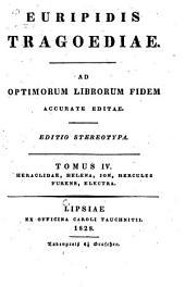 Tragoediae: ad optimorum librorum fidem accurate editae, Τόμος 4