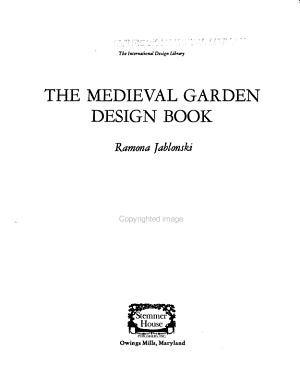 The Medieval Garden Design Book
