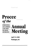 Proceedings of the     Annual Meeting PDF