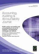 Public Sector Accounting and Accountability in an Era of Austerity  New Directions  Challenges and Deficits PDF