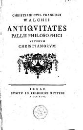Antiquitaten pallii philosophici veterum christianorum