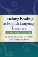 Teaching Reading to English Language Learners PDF