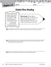 Because of Winn-Dixie Close Reading and Text-Dependent Questions