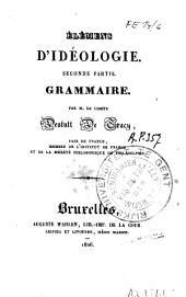 Elémens d'idéologie: Grammaire
