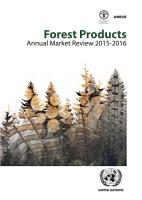 Forest Products Annual Market Review 2015 2016 PDF