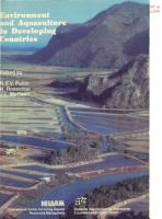 Environment and Aquaculture in Developing Countries PDF