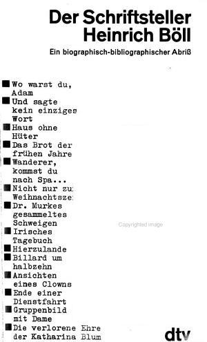 Der Schriftsteller Heinrich B  ll PDF