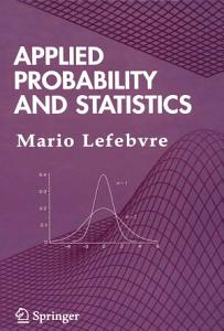 Applied Probability and Statistics Book