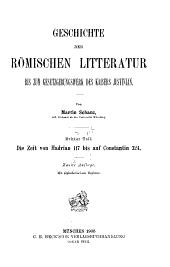Geschichte der römischen Litteratur bis zum Gesetzgebungswerk des Kaisers Justinian: Teil 3