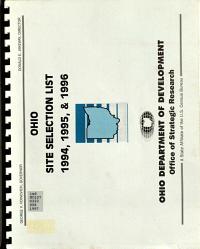 Ohio Site Selection List 1994, 1995 & 1996