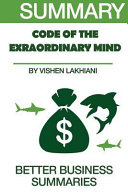 Summary The Code Of The Extraordinary Mind Book PDF